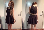 dress,cut-out,indie,hipster,black,short dress,pretty,madison beer,black dress