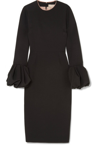 Roksanda dress black satin