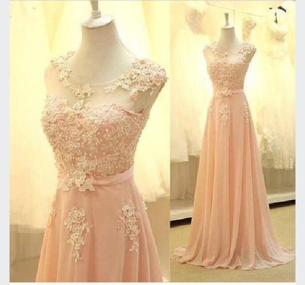 dress pink beautiful pink dress long dress long sleeves long prom dress elegant maybe not exactly similar magical dress prom rose