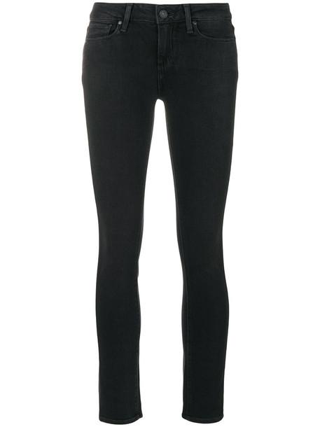 Paige jeans skinny jeans women spandex cotton black