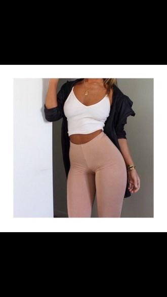 leggings pink pastel high waisted