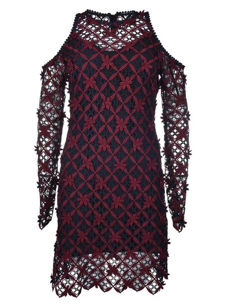 dress cold floral grid