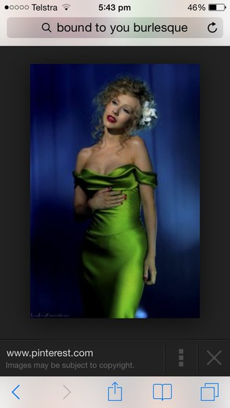 green long burlesque bound to you amazing