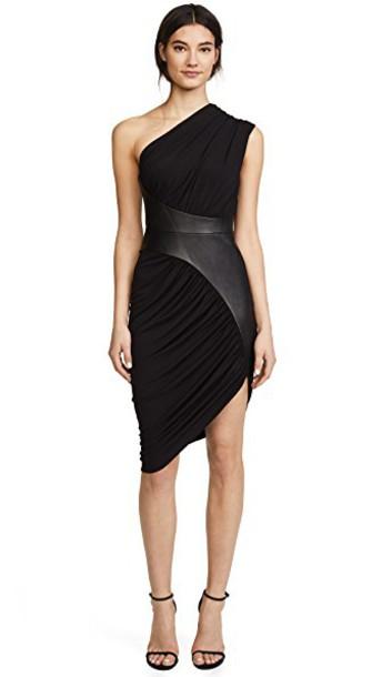 dress draped dress asymmetrical draped black