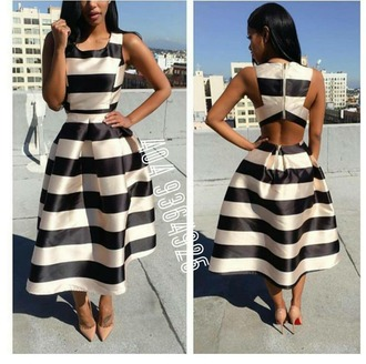dress black dress white dress backless backless dress swing dress striped dress black and white dress