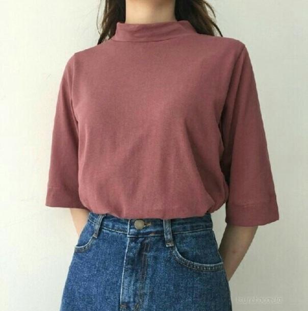 blouse mauve t-shirt
