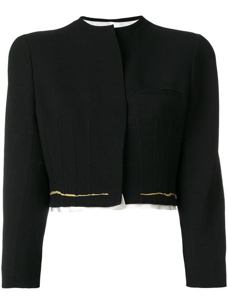 Haider Ackermann jacket cropped jacket cropped women cotton black wool