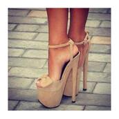 shoes,heels,cream,beige,high heels,open toes,bow,bow shoes,ankle strap,ankle strap heels,pumps,sexy,sexy shoes