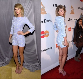 romper long sleeves taylor swift grammys 2015 sandals shoes bag clutch