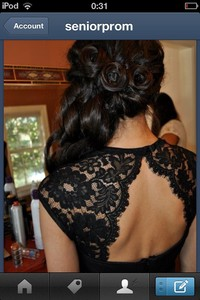dress open back backless prom dress black dress cut out dress lace dress long dress