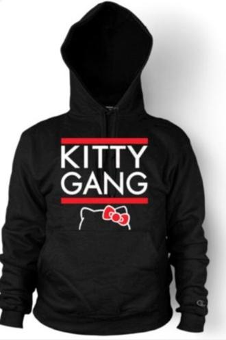 jacket black cute kitty gang