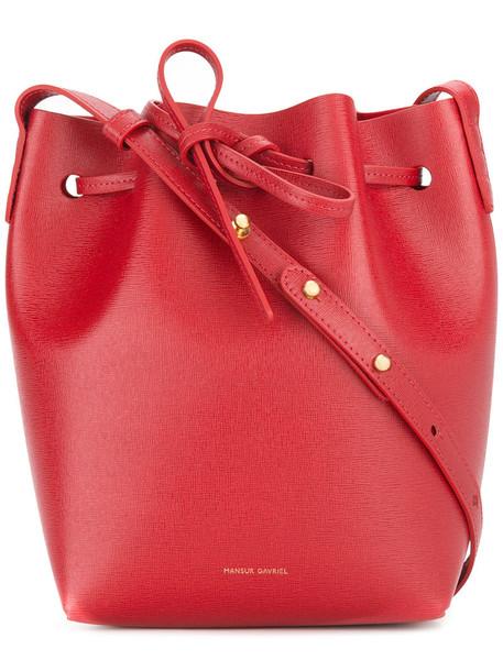 Mansur Gavriel women bag shoulder bag leather red