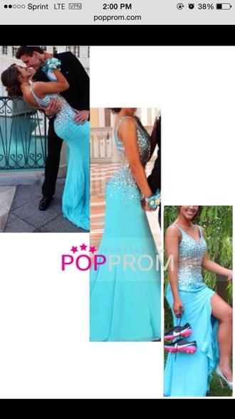 dress prom v neck slit