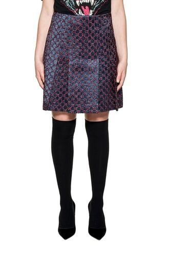 skirt blue red