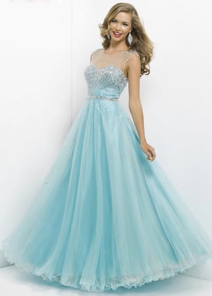 Dress Prom Dress Pastel Blue Long Prom Dress Wheretoget