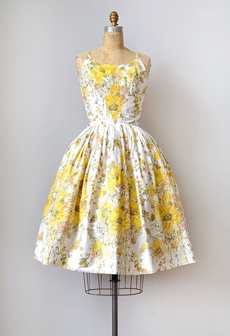 dress sundress casual dress 50s style