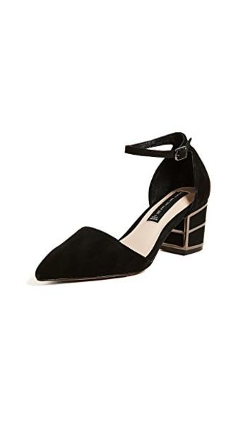 Steven ankle strap pumps black shoes