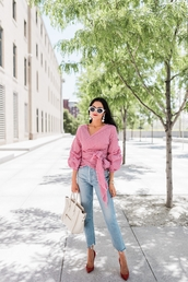 jeans,denim,shirt,sunglasses,bag,top