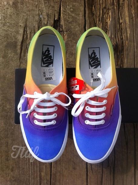 shoes, multicolor vans - Wheretoget