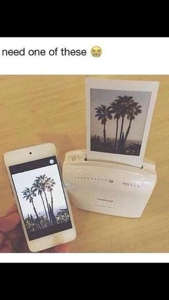 phone case white camera poloroid