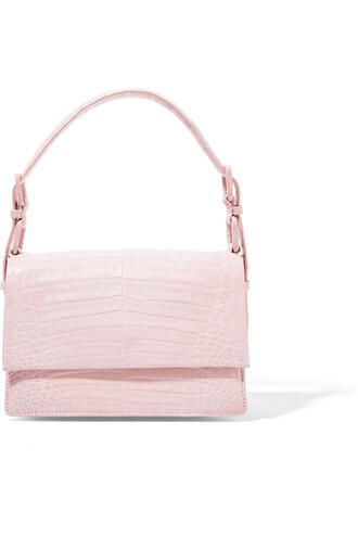 mini bag shoulder bag crocodile pastel pink pastel pink