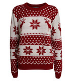 Dana snowflake knitted christmas jumper in red