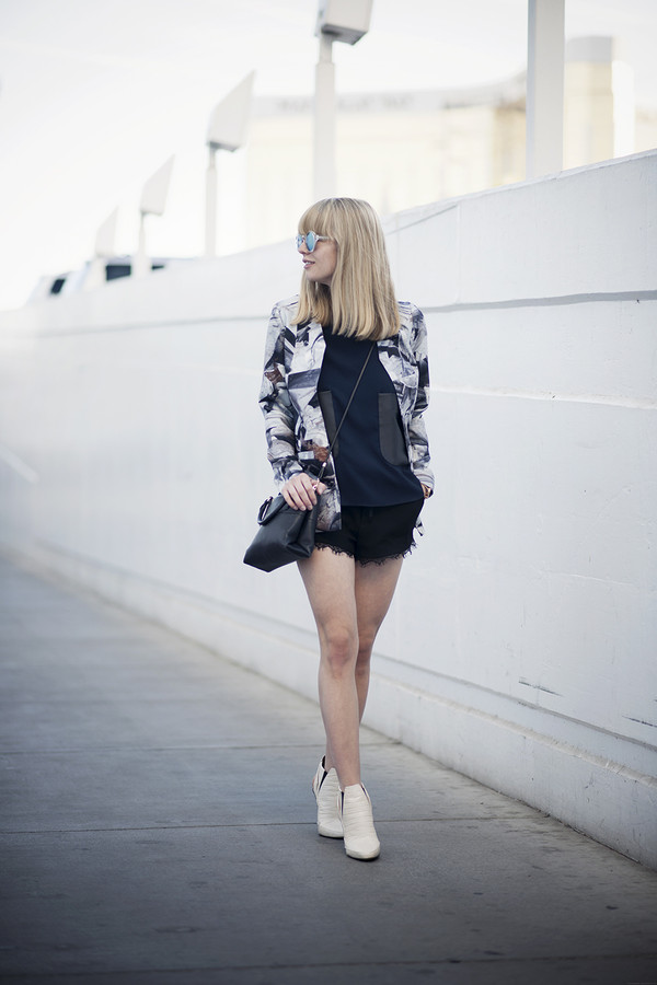 just another me jacket t-shirt bag shorts shoes sunglasses