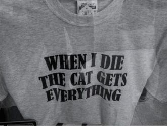t-shirt top shirt cats crop tops quote on it grey top grey lol funny
