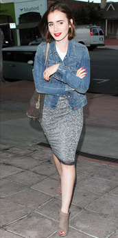 jacket,lily collins