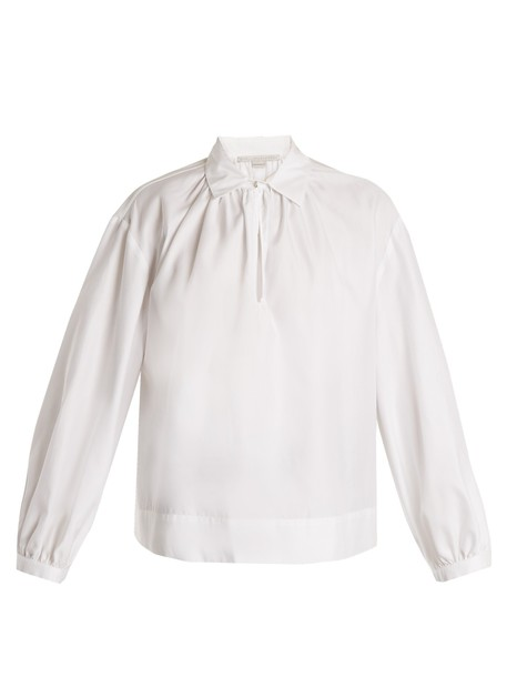Stella McCartney shirt slit cotton white top