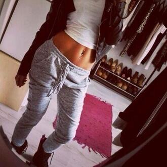 grey sweatpants sweatpants sports pants