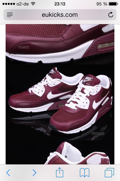 shoes nike airmax burgundy