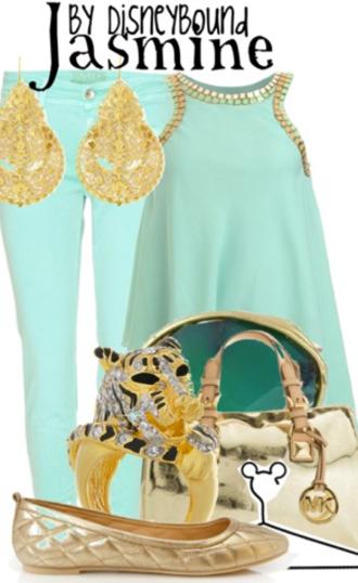 blouse torquise jasmine