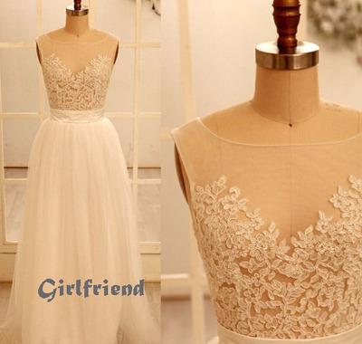 Prom Dress · Elegant lace handmade floor-length prom dress ...