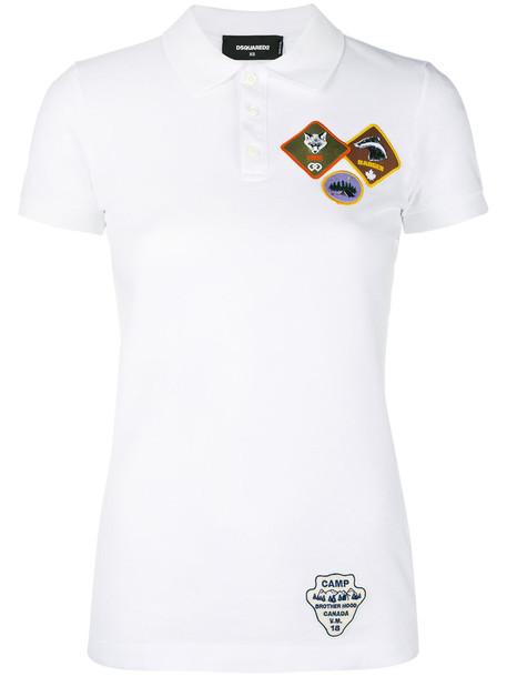 Dsquared2 shirt polo shirt women white cotton top