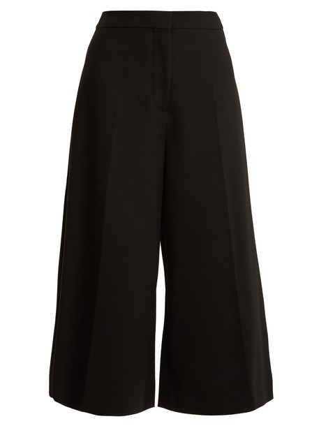cropped wool black pants