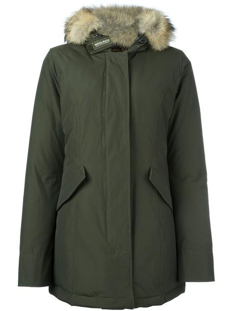 parka fur women cotton green coat