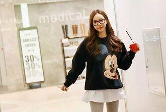 asian model mickey mouse mouse mickey mouse korean pullover ulzzang adorable print design