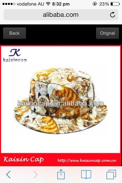 hat cats bucket hat indie cats