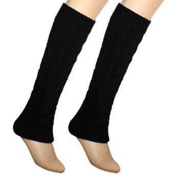 Amazon.com: Dahlia Women's Cable Knit Leg Warmers - Black: Clothing