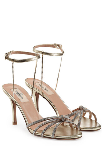 embellished sandals leather sandals leather gold shoes