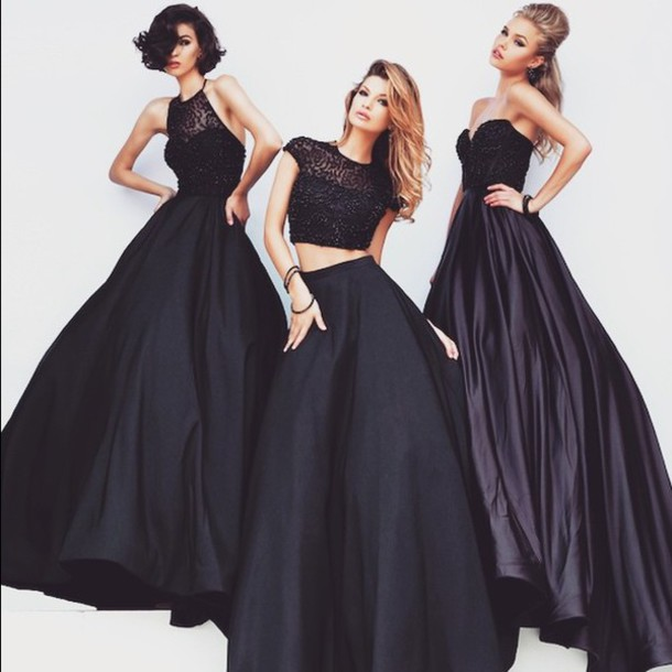 dress black dress prom dress gown