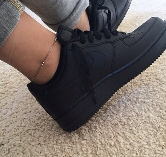 shoes black shoes nike air force 1
