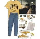 t-shirt,nirvana yellow