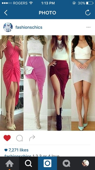 skirt red red skirt foxy hot cute cute skirt cute skirt and crop top