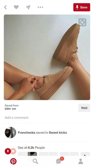 shoes puma creepers puma creepers nude