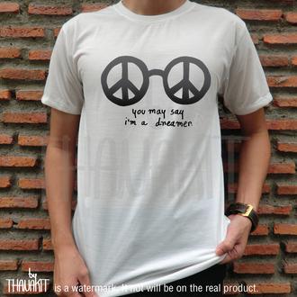 shirt peace sign peace peaceful shirt dress t-shirt white t-shirt mens t-shirt woman t-shirt dreamer john lennon glasses john lennon john the beatles the beatles shirt the beatles t-shirt the beatles tshirt top tees graphic tee glasses