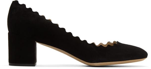 Chloe heels suede black shoes
