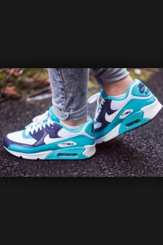 shoes shoes nike airmax blue grey nike nike shoes