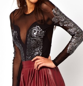 dress mesh bodysuit